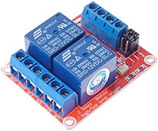 SMAKN DC 12V 2CH 2 Channel Isolated Optocoupler High/Low Level Trigger Relay Module