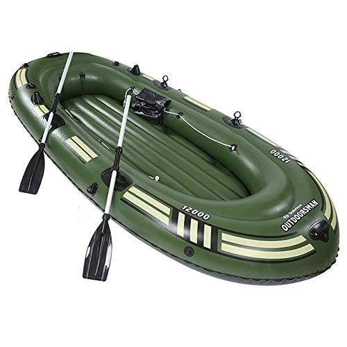 Zixin Bote neumático, Bote de Pesca establecidas en Canoa, Resistente a la perforación de PVC Inflable Barco Kayak con Deportes acuáticos a Pedales (Size : 2 Person 193x100cm)