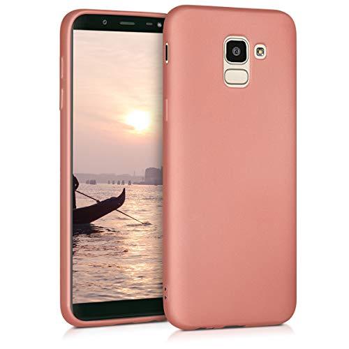 kwmobile Hülle kompatibel mit Samsung Galaxy J6 - Hülle Handy Metallic Rosegold