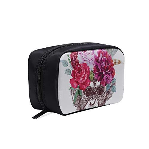 Sac de plage à la mode forêt bête noire fleur de gorille pas cher trousse de toilette nouvelle mode fourre-tout sac de mode pour enfants sacs à cosmétiques sac multifonction voyage sac de maquillage