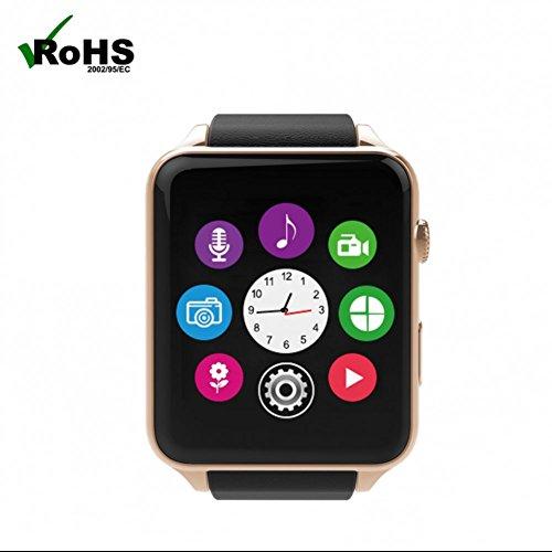 Smartwatch Armbanduhr Schrittzähler SmartWatch herzfrequenz Fitness Armband Uhr Mit Kamera SIM Fitness Armband