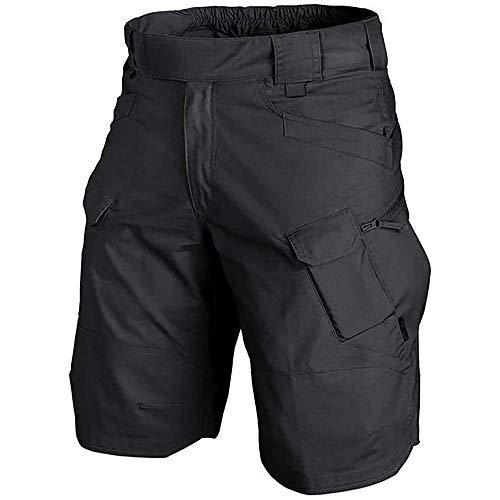 Pantalones Cortos de Carga para Hombre Pantalones Cortos de Trabajo con múltiples Bolsillos Pantalones Cortos de Verano para Trabajo Pesado Pantalones Cortos de algodón elástico Cortos
