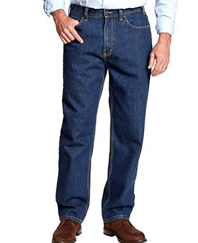 Kirkland Signature Men's 5-Pocket Jeans, Relaxed Fit (Blue, 32W X 32L)