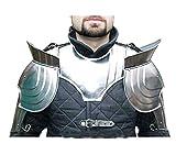 IMPACTNAUTICAL Handikrafft Kart Medeeval hombro con cuello Fantasy Set par de cubrehombros LARP Avalon armadura de acero Reenactment