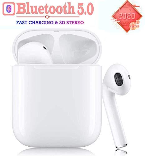 Bluetooth 5.0 draadloze koptelefoon met ruisonderdrukking, sporthoofdtelefoon met IPX5 waterdichte koptelefoon Stereo koptelefoon Geïntegreerde HD-microfoon Headsets voor iPhone Android/Airpod