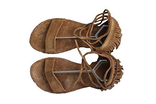 Sandalen Damen Bollywood Strand Urlaub Hippie ethnic party Römer Herbst yoga Sandaletten Frühling Sommer Mädchen Frauen mittelalter Schnürsandalen schnüren sandals unisex (39, Patta jhaler dark brown)