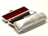 「黒檀印鑑15.0mm×60mmニューカラークロコケース(シルバー)付き」 横彫り 吉相体