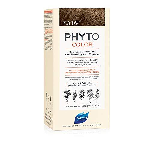 PHYTO PHYTOCOLOR 7.3 Goldblond - duurzame kleurstelling op plantaardige pigmenten - zonder hangmat - intensieve kleur - afdekking 100% wit haar