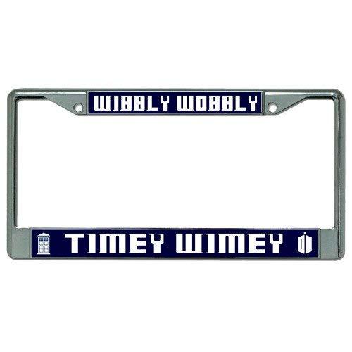 "PotteLove Wibbly Wobbly Timey Wimey Dr. Who Photo License Plate Frame, 6"" X 12"""
