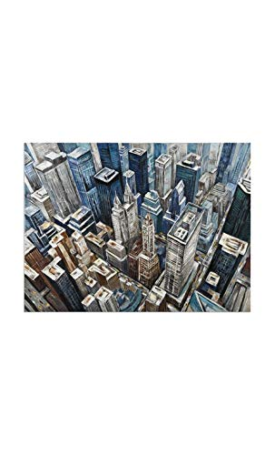Socadis – Cuadro ciudad Roof Top efecto azul Gallery