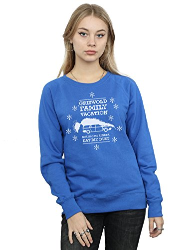 National Lampoon's Christmas Vacation Damen Eat My Dust Sweatshirt XX-Large Königsblau