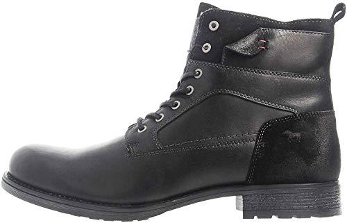 MUSTANG Shoes Stiefeletten in Übergrößen Schwarz 4865-610-9 große Herrenschuhe, Größe:49
