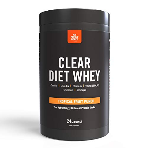 Clear Diet Whey Isolate Protein | Refreshing Drink | Sugar Free & Zero Fat | Energising Vitamins | Tropical Fruit Punch | THE PROTEIN WORKS | 24 Servings