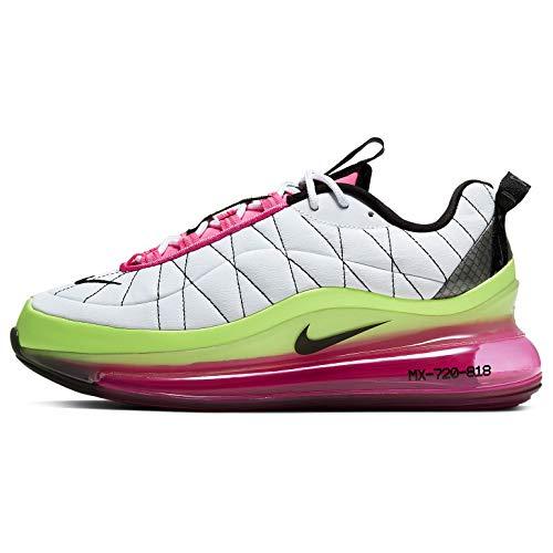 Nike Mx-720-818, Sneaker Mujer, Blanco/Negro-Pink Blast-Ghost Green, 37.5 EU