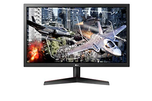 LG 24GL600F-B 59,8 cm (23,6 Zoll) UltraGear Full HD Gaming Monitor (144 Hz, 1ms GTG, AMD Radeon FreeSync, DAS Mode) schwarz