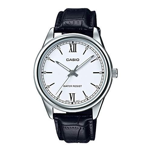 Casio Mtp-v005l-7b2 Reloj Analógico para Hombre Colección Dress Caja De Acero Inoxidable Esfera Color Blanco