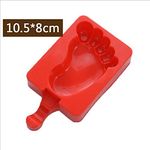Coner siliconen ijsvorm Popsicle Mallen Popsicle Maker Holder Frozen Ice Mold met Popsicle Sticks Kitchen Tools, 04