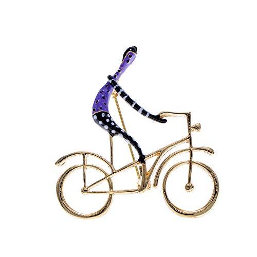 GLKHM Broche Pines Mujeres Breastpin Broches De Bicicleta De Paseo Esmaltados Accesorios Creativos De Moda para Mujer-2_4.2 * 4.2Cm