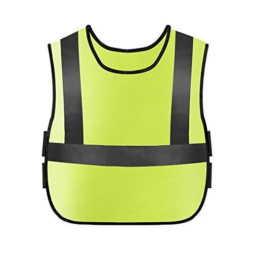 Vest Reflecterende Veiligheid Kids Veiligheid Reflector Vest Met Elastische Taille Band Voor Outdoor Nacht Activiteiten Of Bouw Worker Kostuum Groothandel #2L25 Geel