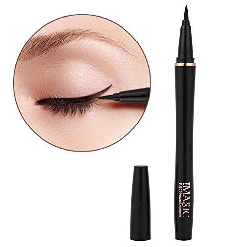 Eyeliner Stamp, IMAGIC Impermeable, de larga duración, Liquid Eyeliner Pen Fast Dry Eyeliner Pencil Black Maquillaje para ojos Negro