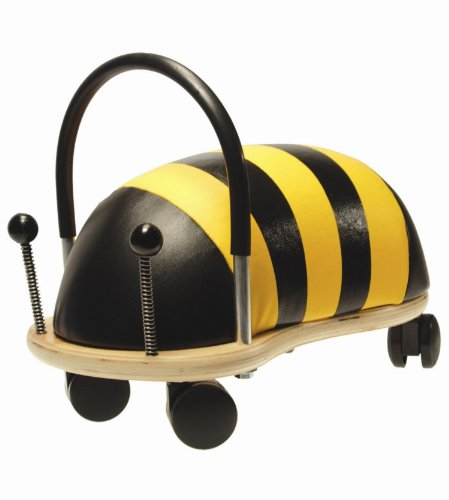 Prince Lionheart Wheely Bug, Bee, Large, Child Ride-On Toy, Multi-Directional Casters, Helps Promote Gross Motor Skills and Balance