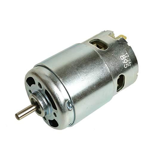 Qingn-Motor Motor generador de Dinamo de Cepillo de torsión Grande, Motor DC 895 12V-24V, para Corte, taladrado, maleza, Motor de Scooter, Fuerte y Robusto (Speed(RPM) : 895 Double Shaft)