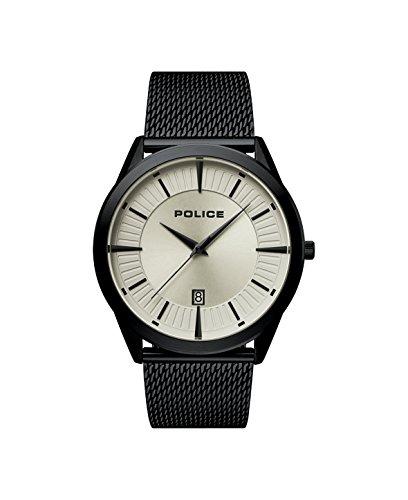 Police Herren Analog Quarz Uhr mit Edelstahl Armband 15305JSB/79MM