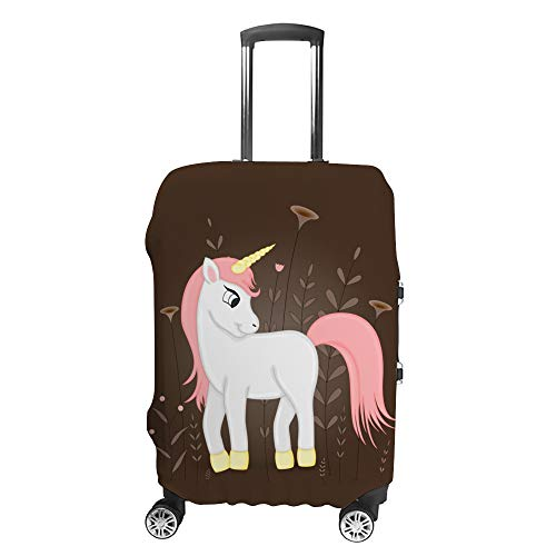 Luggage Cover Travel Anti-Scratch Suitcase Cover Baggage Protector Case Cartoon Unicorn Fit Washable Accessories Dustproof XL