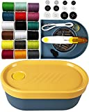 TiniSweet, Portable Sewing Kits Storage Box, Mini Sewing Organizer, Household Gift, DIY Sewing SuppliesFilled with Scissors, Thimble, Thread, Sewing Needles, Tape Measure etc (Yellow)