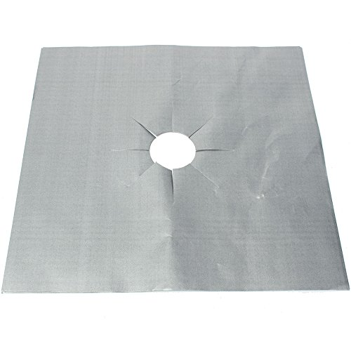 MSV beschermfolie voor gasfornuis 16 stuks van aluminium, zilver, 26 x 26 x 1 cm, eenheden
