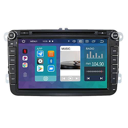Radio de Coche 2 DIN Android 10 Compatible con Volkswagen / Skoda / Seat, Soporte estéreo de 8 Pulgadas GPS Navi USB Bluetooth 1080P WiFi SD RDS