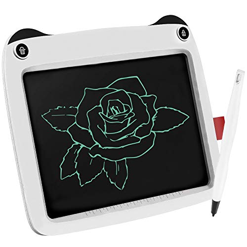 3D Hero LCD Writing Tablet for Kids 9 Inch Writing and Drawing E-writing Tablet Board with Stylus for Children Doodling (White)
