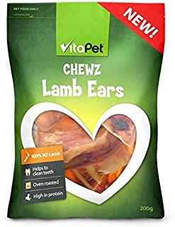Vita Pet Chewz Lamb Ears, Dog Treats, Small/Medium/Large Dogs 200 g