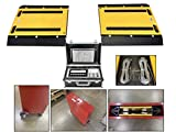 MYSCALE MS-928 Portable Weigh Pads Axle Scale Truck Scale with Vehicle Scale Ramps (16''x24'')