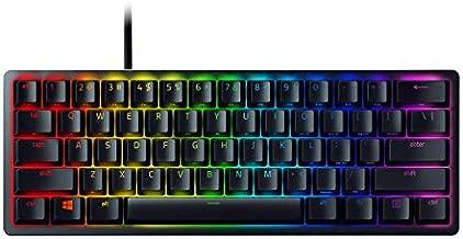 Razer Huntsman Mini 60% Gaming Keyboard: Fastest Keyboard Switches Ever - Clicky Optical Switches - Chroma RGB Lighting - PBT Keycaps - Onboard Memory - Classic Black (Renewed)