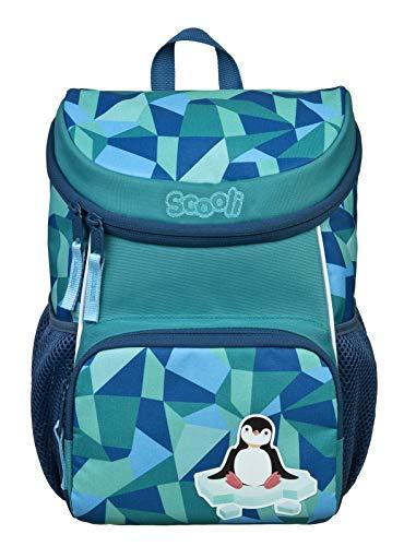 Scooli Mini-Me Kindergartenrucksack mit Abnehmbarer Brustgurt für Jungen und Mädchen I Ergonomischer Vorschulrucksack für die Kita I viel Stauraum geringes Gewicht, Pinguin