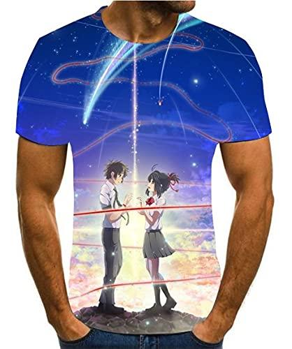 Tendencia, animación japonesa, impresión 3D, estilo de calle de manga corta de verano, mezcla y combinación, reloj pop XXS