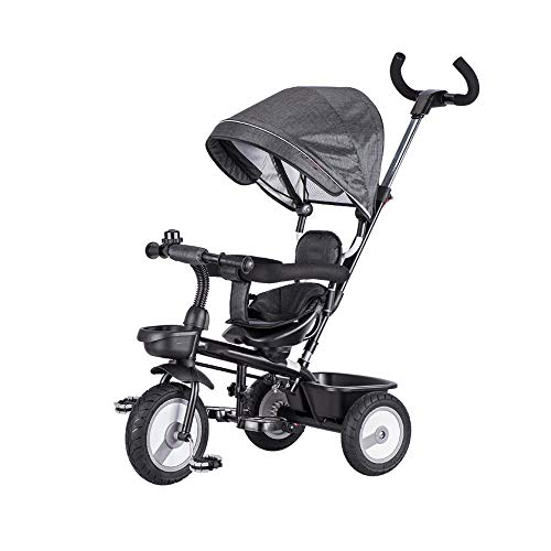 Best Buy! LRHD Children's Tricycle, 4-in-1 Baby Tricycle Cart, Suitable for 10 Months to 6 Years Old...