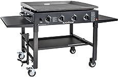 """Blackstone 1554 Station-4-burner-Propane Fueled-Restaurant Grade-Professional 36 inch Outdoor Flat Top Gas Grill Griddle Station-4-bur, 36\\"""" - 4 Burner"""