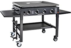 Easy assembly, and quick ignition button. You may receive a rear grease or a front grease drain. Griddle top is easily removable Four independently controlled burners with low to high temperature settings provide versatile cooking options Four indust...