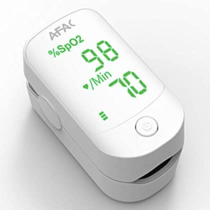 AFAC Pulsioximetro de Dedo, Oxímetro Dedo, Medición de Frecuencia Cardíaca la Saturación de Oxígeno, Para el Cuidado de…