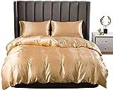 dsgsd Microfibra de decoración de Dormitorio Sencillo patrón Retro Champagne 260x240cm Moda Funda nórdica Funda de edredón Cómoda Funda de edredón con Cremallera