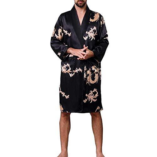 GYPPG Männer Schlafanzüge im chinesischen Stil Gedruckt Plus Size Langer Bademantel...