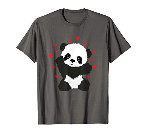 Niños lindo oso panda oso amor corazones regalo día Camiseta