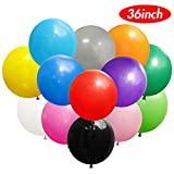 Koogel 36'' Big Balloons,15 Pcs Assorted Colors Latex Giant Balloons Large Balloons for Birthday Wedding Party Festival Event Carnival Decorations