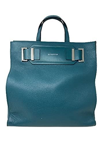 Cromia Handtasche mit Schultergurt Art. 1404434 Petrolleder
