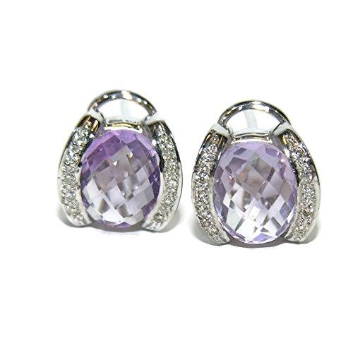 Pendientes de 0.20Cts de diamantes talla brillante y oro blanco de 18Ktes.