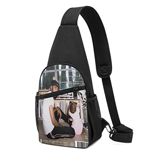 JONINOT 6lack East Atlanta Love Letter Sling Bag Bolsa de pecho Mochila de hombro Cross Body Ligero Packable Durable Daypack