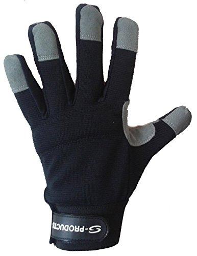S-Products Mécanismes de Travail de sécurité Protection des Mains DIY entrepôt Store Man Gants de Travail Noir M Noir