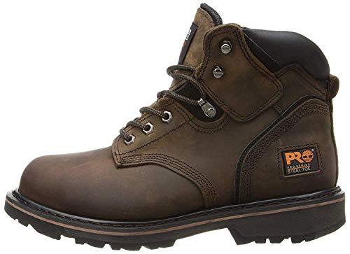 "Timberland PRO Men's Pitboss 6"" Steel-Toe Boot, Brown , 9.5 D - Medium"